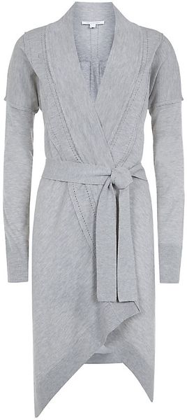 Diane Von Furstenberg Mary Kate Long Wrap Cardigan - Lyst