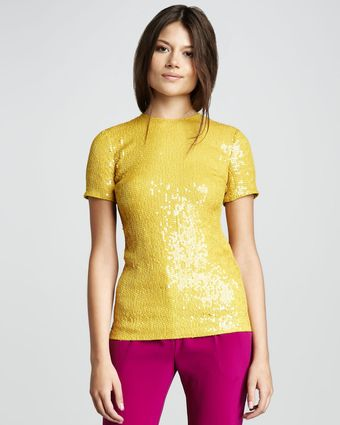 Diane Von Furstenberg Catalina Couture Sequined Top - Lyst