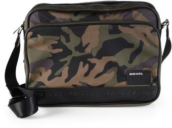 Diesel Army Camo Messenger Bag - Lyst