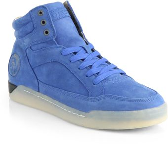 Diesel Exclusive Suede Hightop Sneakers - Lyst