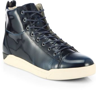 Diesel Tempus Leather Hightop Sneakers - Lyst