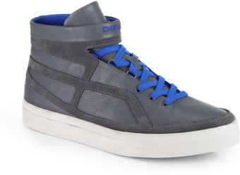 Diesel Route Leather Hightop Sneakers - Lyst
