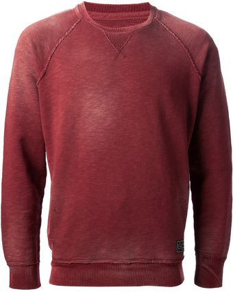 Diesel Faded Red Sweatshirt - Lyst