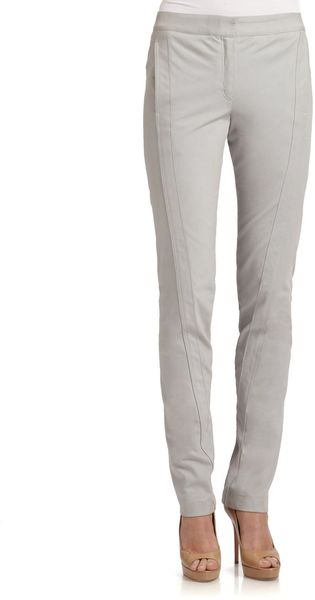 Donna Karan New York Seamed Cotton Pants - Lyst