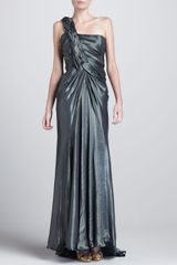 Donna Karan New York Braidedshoulder Metallic Gown Solstice - Lyst