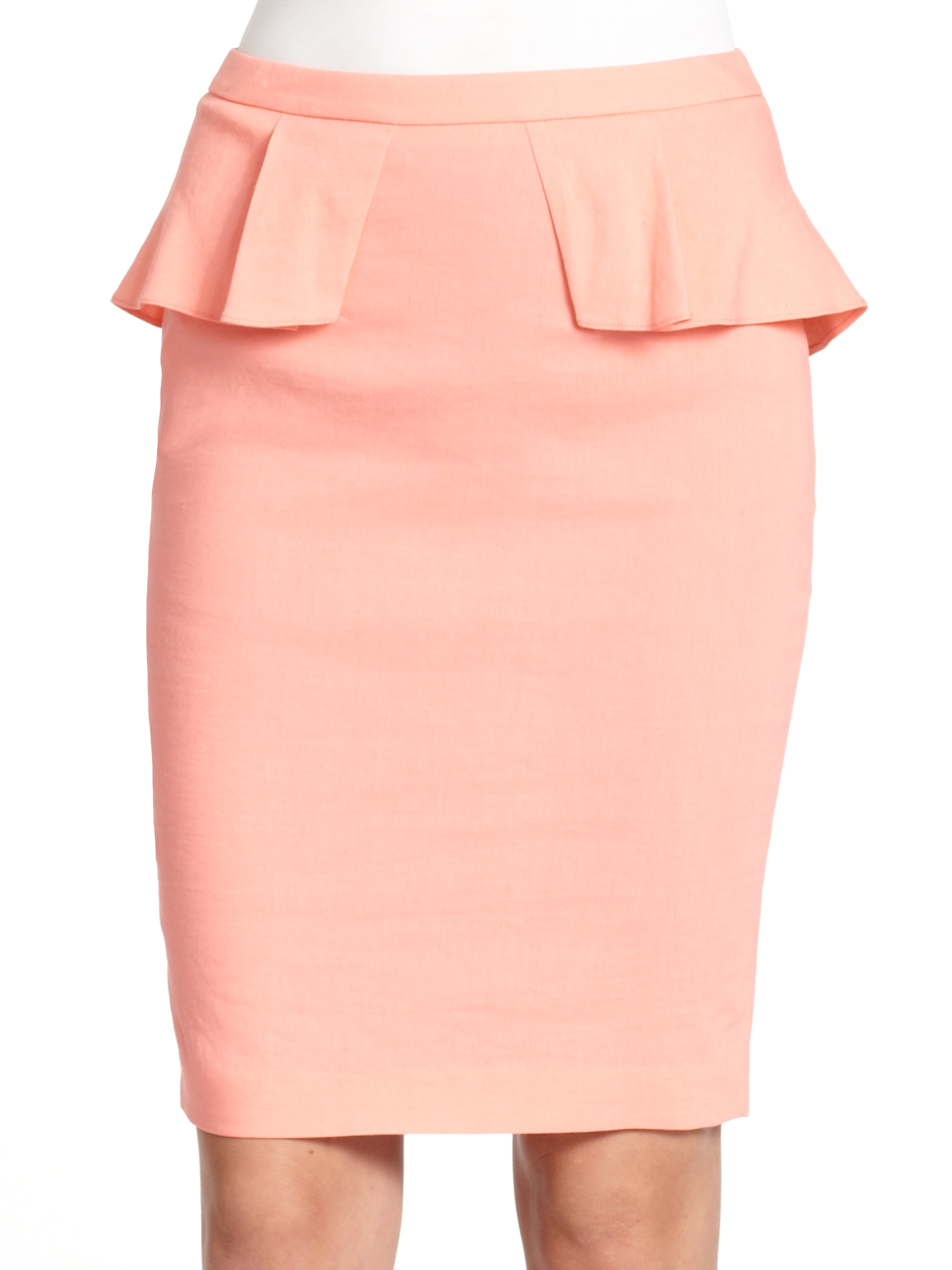 Peach Pencil Skirt - Dress Ala
