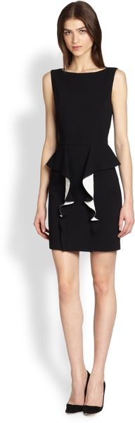 Emilio Pucci Sleeveless Stretchwool Peplum Dress - Lyst