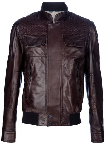 Fendi Leather Jacket - Lyst