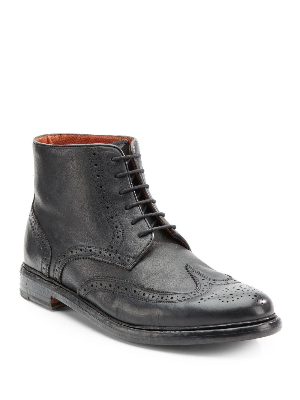 florsheim by duckie brown brokenin brogue ankle boot in