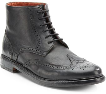 Florsheim By Duckie Brown Brokenin Brogue Ankle Boot - Lyst