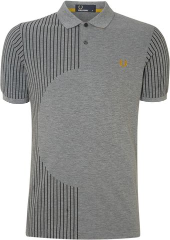 Fred Perry Disc Shape Front Polo - Lyst