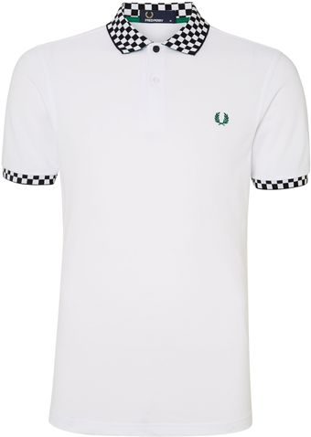 Fred Perry Polka Dot Two Button Down Shirt - Lyst