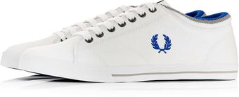 Fred Perry White Plimsolls - Lyst