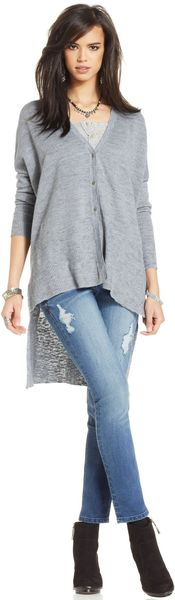 Free People Longsleeve High-low Cardigan - Lyst