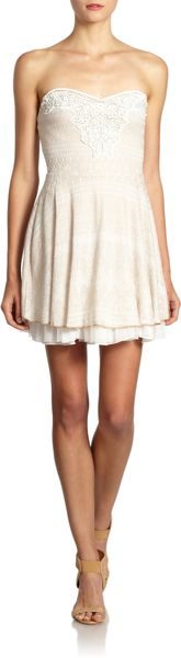Free People Twinkle Twirl Strapless Dress - Lyst