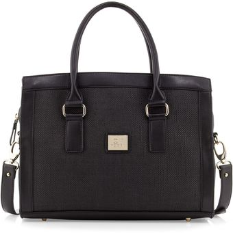 Gianfranco Ferré Large Wovencenter Satchel Bag Black - Lyst
