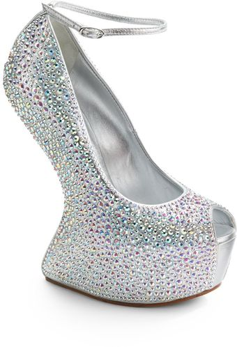 Giuseppe Zanotti Jeweled Carved Metallic Leather Wedges - Lyst