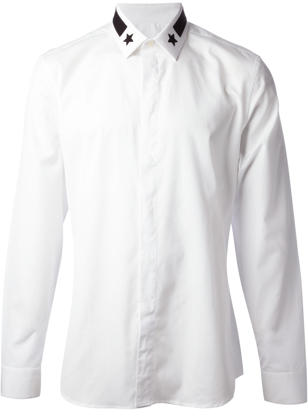 Givenchy Star Collar Shirt In White For Men Lyst