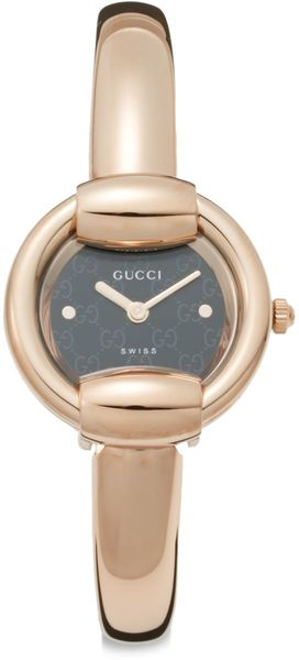 Gucci Round Goldtone Bangle Watch - Lyst