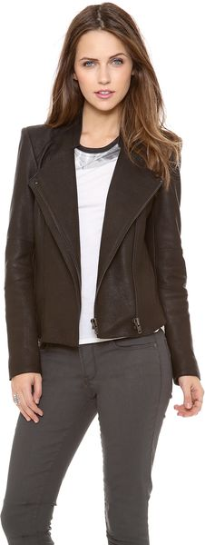 Helmut Lang Wither Leather Jacket - Lyst