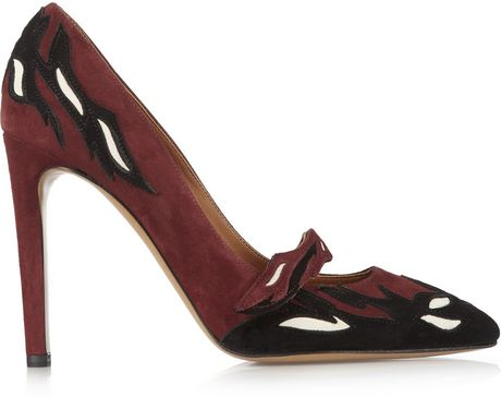 Isabel Marant Kylie Suede Pumps in Red (burgundy)