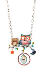!item Double Owl Pendant Necklace - Lyst