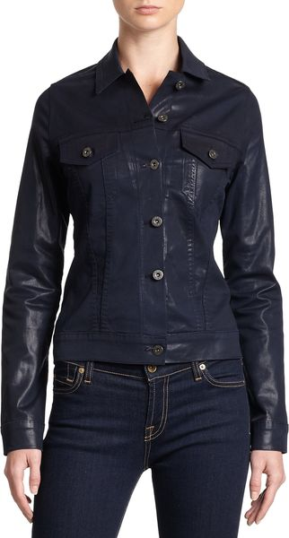 James Jeans Coated Denim Jacket - Lyst