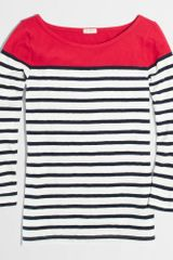 J.Crew Factory Colorblock Stripe Boatneck Tee - Lyst