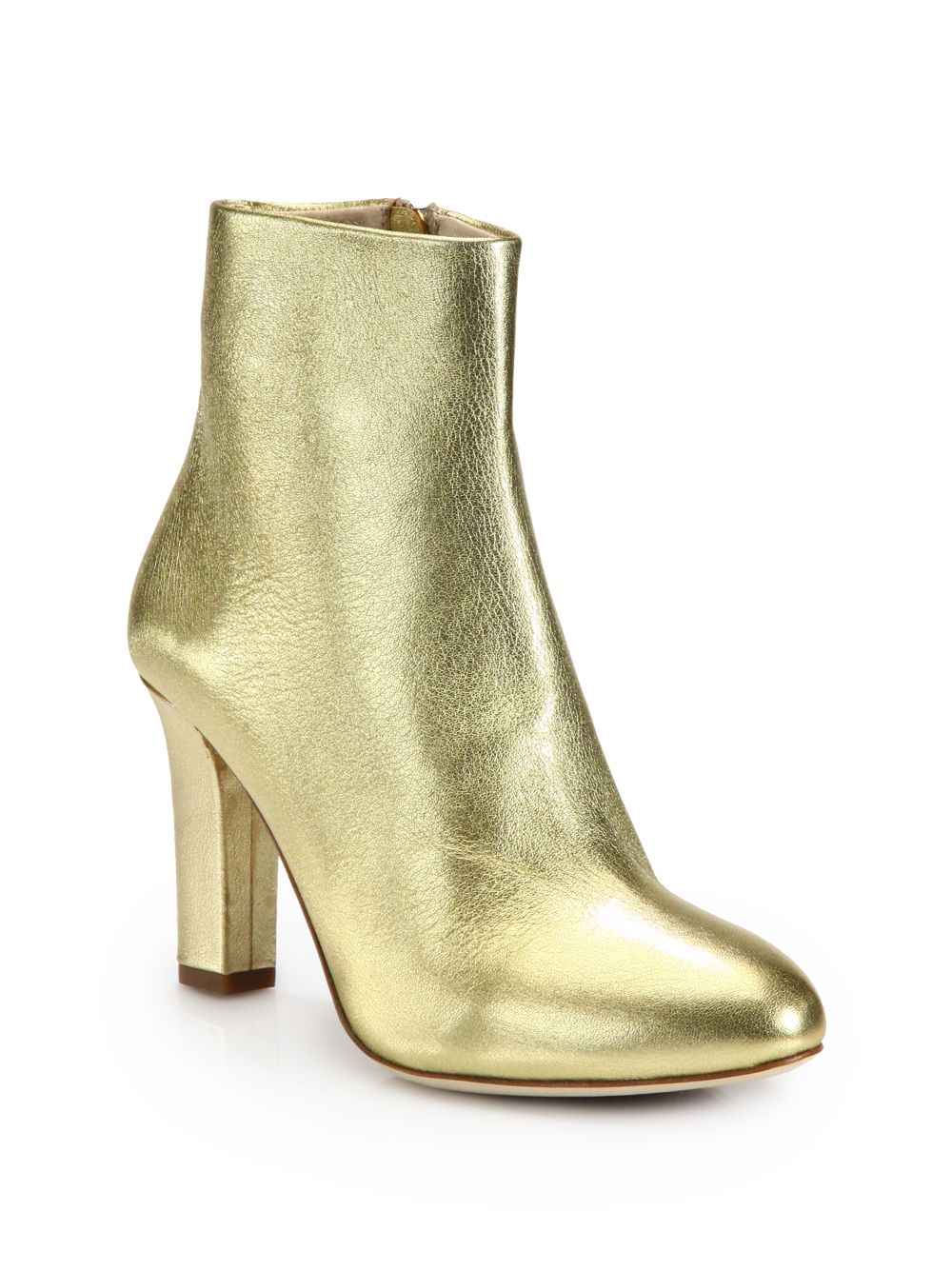 Metallic Leather Boots : Lyst jerome c rousseau metallic leather ankle boots in