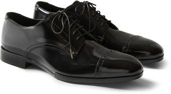 Jimmy Choo Prescott Patentleather Derby Shoes - Lyst