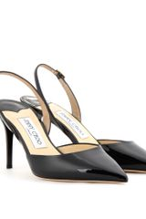 Jimmy Choo Tilly Patentleather Slingback Pumps - Lyst