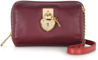 Juicy Couture Burgundy Leather Mini Steffy Crossbody Bag - Lyst