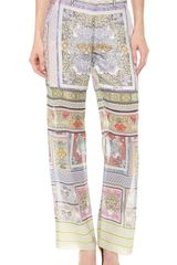 Just Cavalli Morris Print Wide Leg Pants - Lyst