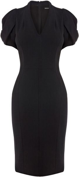 Karen Millen Cute Dress with Full Sleeve - Lyst