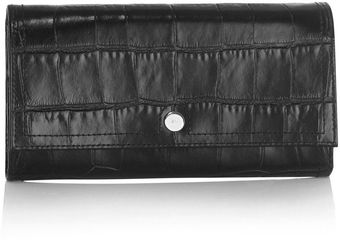 Karen Millen Multi Zip Croc Collection Purse - Lyst