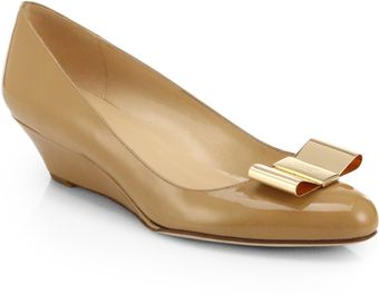 Kate Spade Roxana Patent Leather Wedge Pumps - Lyst