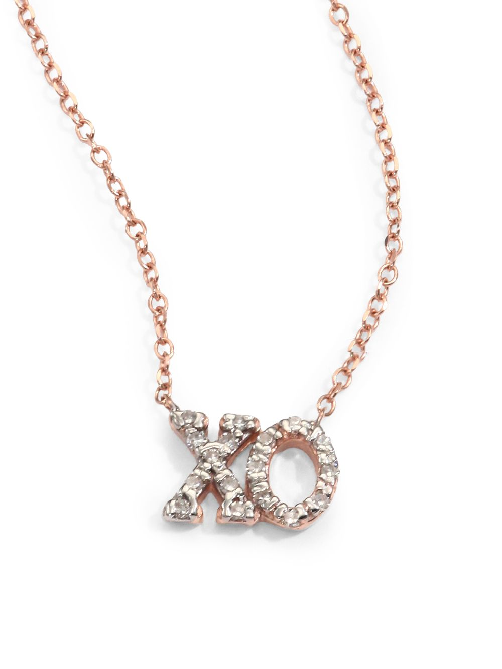 kc designs and 14k gold xo necklace in gold