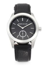 Kenneth Jay Lane Stainless Steel Leather Watch - Lyst