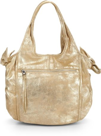 Kooba Carmine Metallic Leather Totegold - Lyst