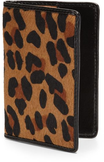 Lodis Robertson Leopardprint Passport Credit Card Sleeve - Lyst