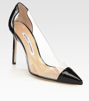 Manolo Blahnik Pacha Translucent Patent Leather Pumps - Lyst