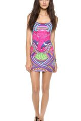 Mara Hoffman Racer Back Mini Dress - Lyst