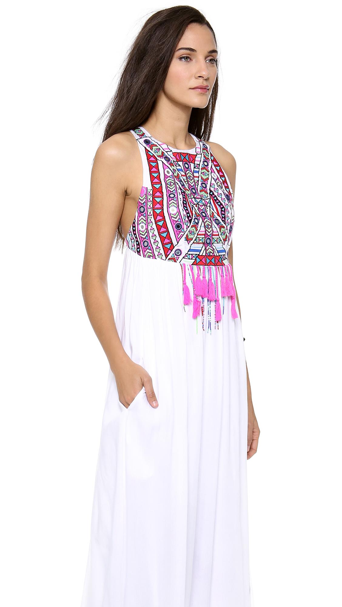 Maxi dress with embroidery makaroka