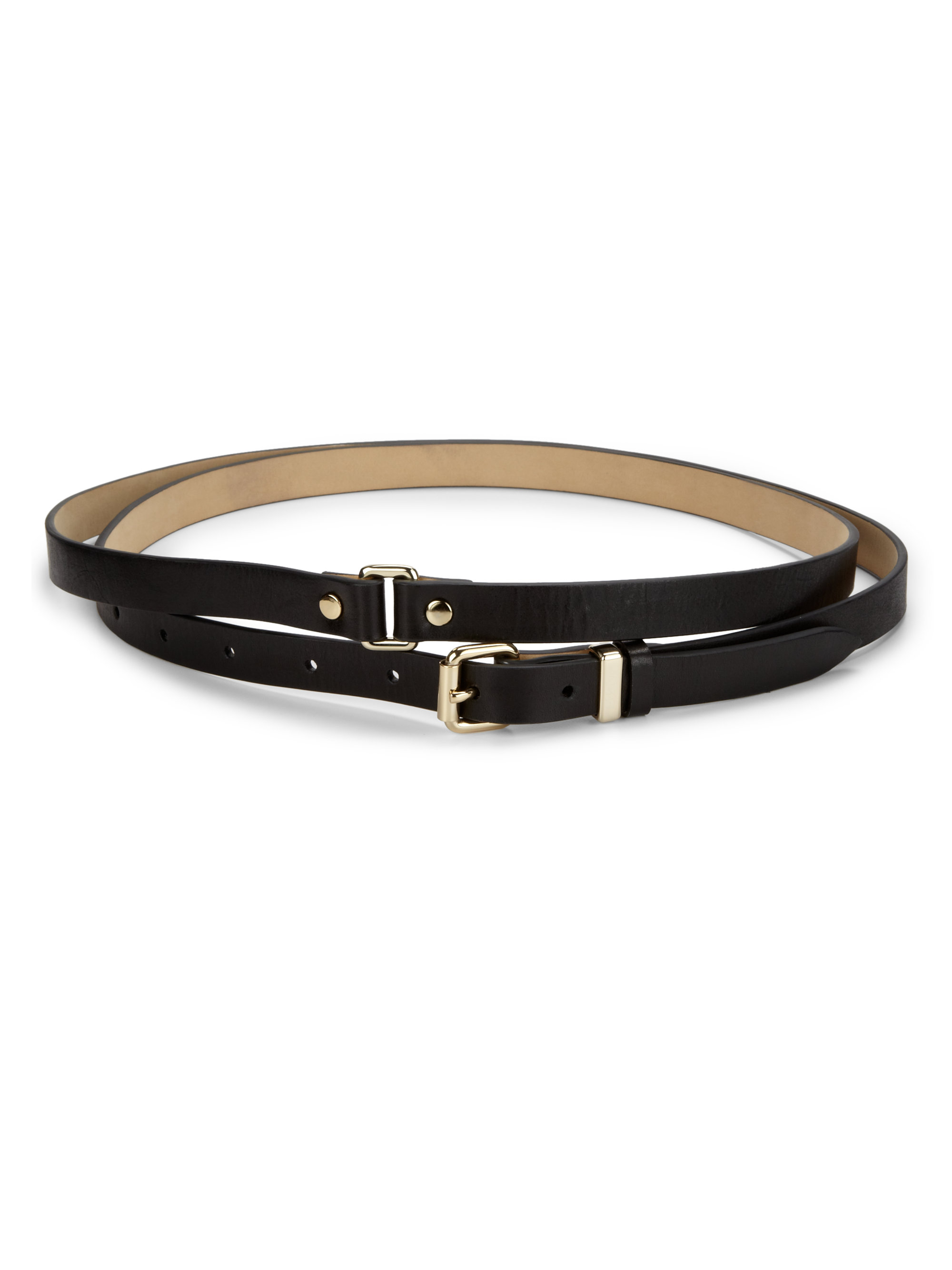 Lyst Marc By Marc Jacobs Double Wrap Leather Belt In Black