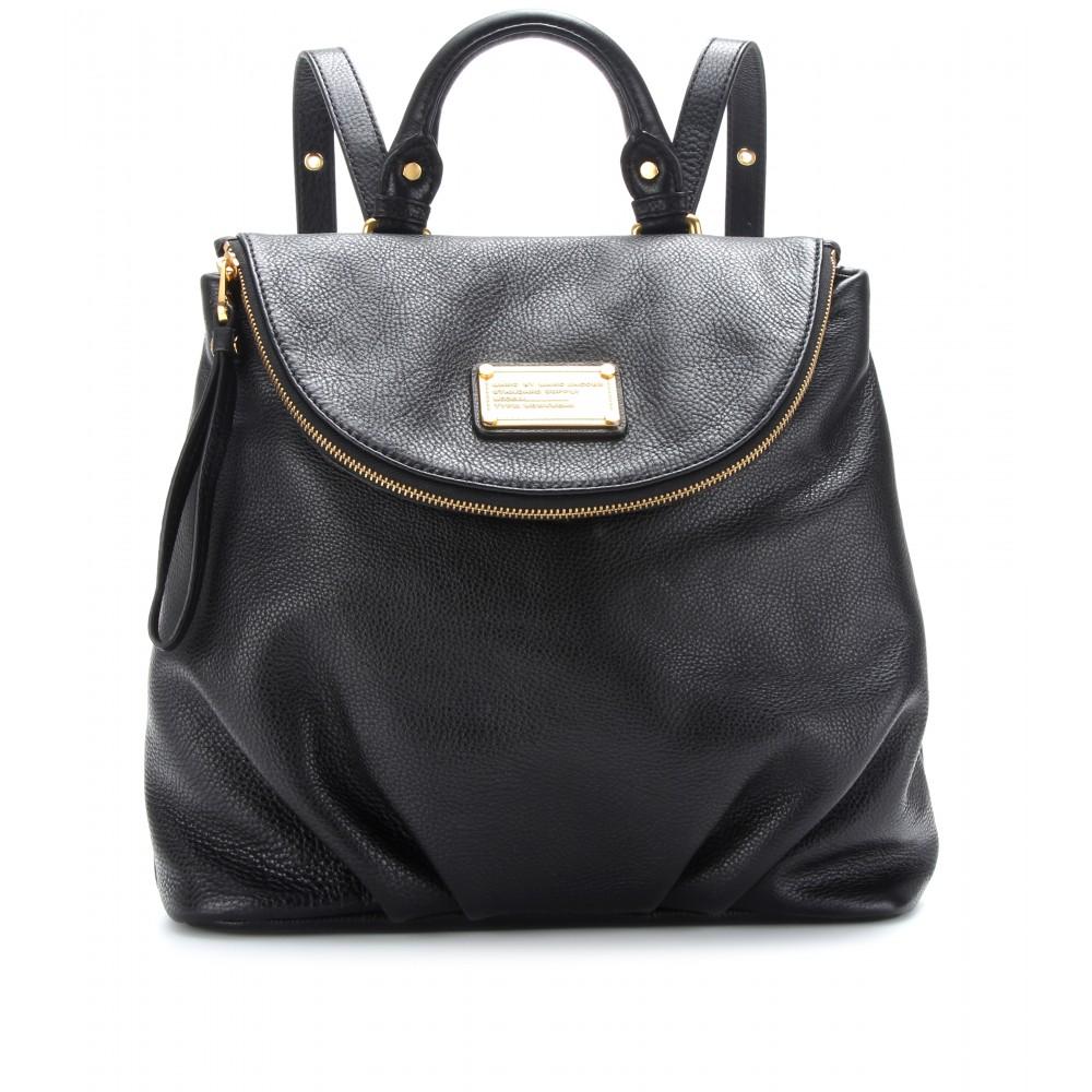 lyst marc by marc jacobs mariska leather backpack in black. Black Bedroom Furniture Sets. Home Design Ideas