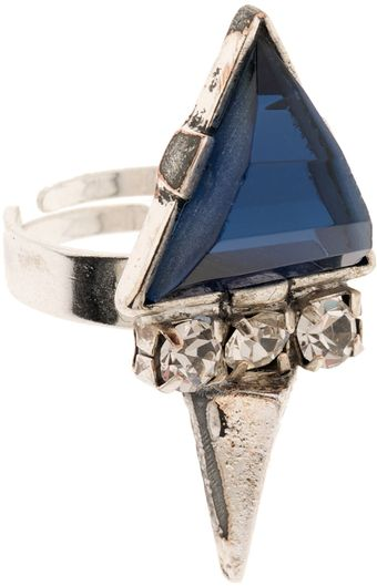 Martine Wester Moonlight Triangular Cobalt Ring - Lyst