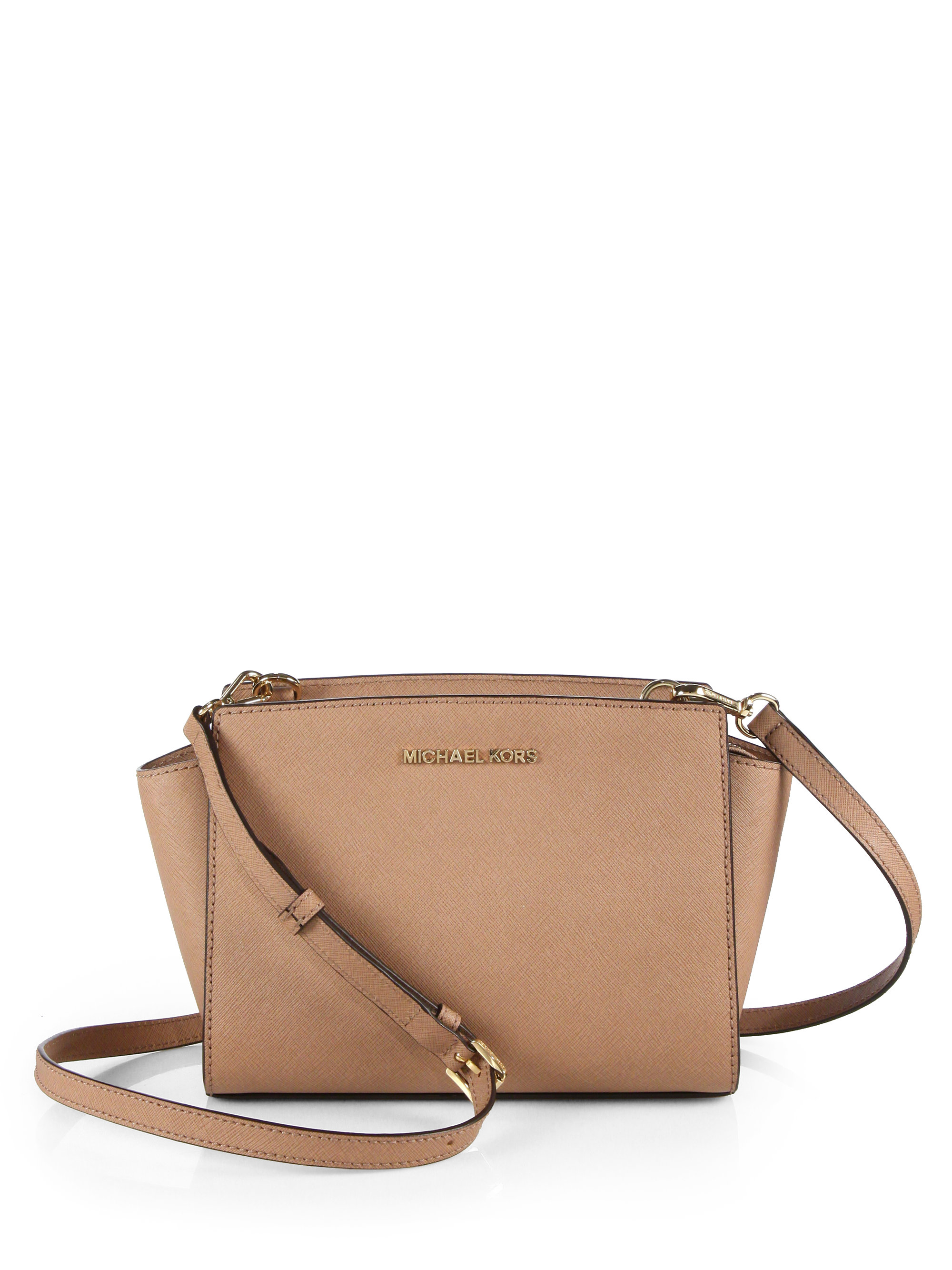 8a25dc780069f ... where can i buy lyst michael michael kors selma medium leather shoulder  bag in pink 74b9d