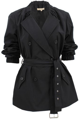Michael Kors Gathered Neck Techno Trench - Lyst