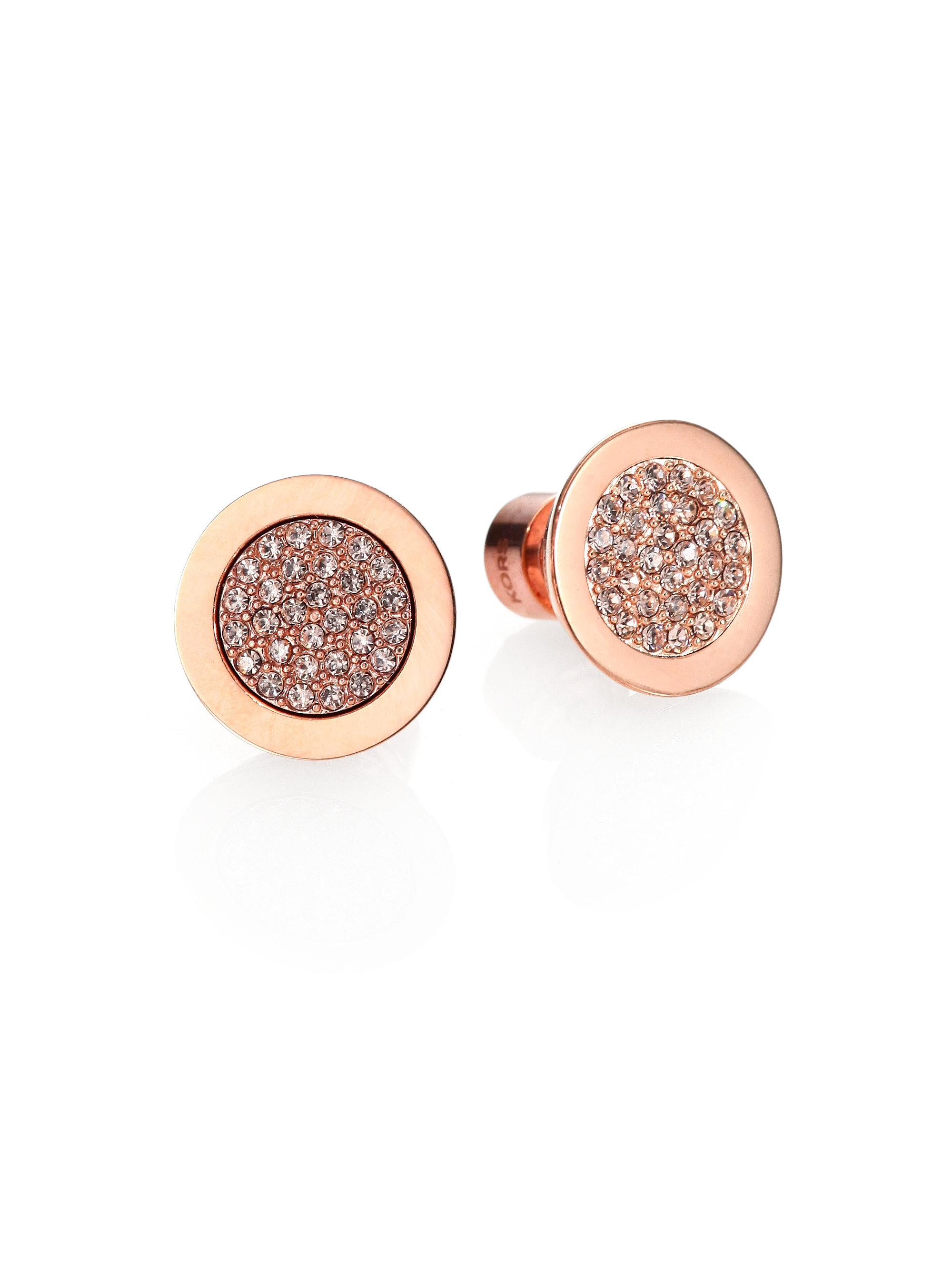 442d01776 Michael Kors PavÉ Slice Stud Earrings/Rose Goldtone in ...