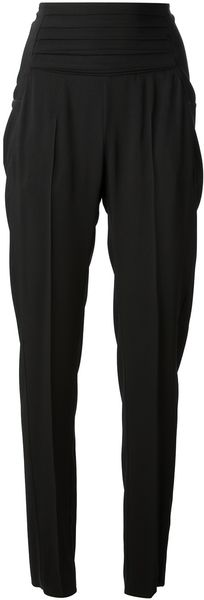 Mm6 By Maison Martin Margiela High Waisted Trouser - Lyst